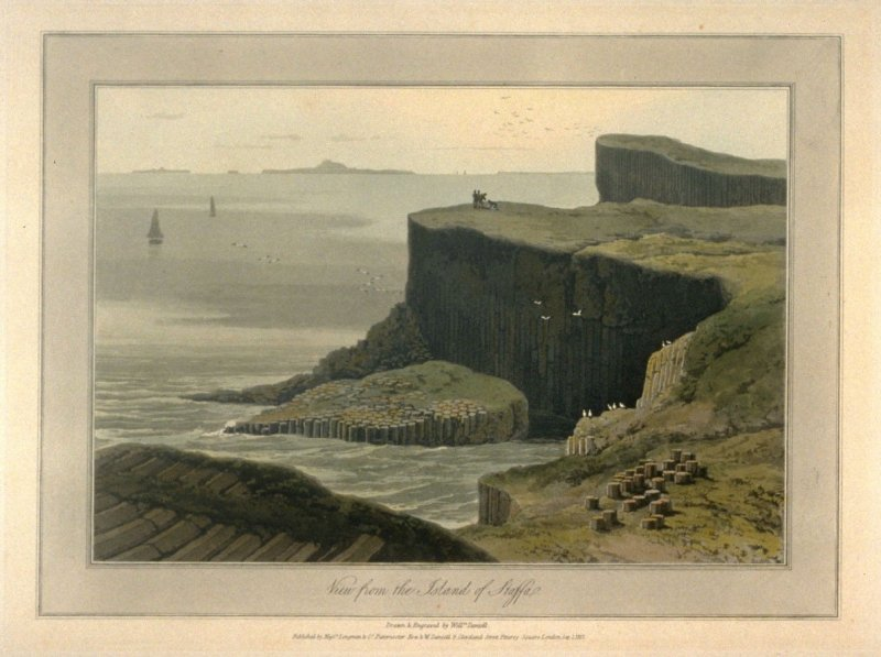 View from the Island of Staffa, from Ayton's 'Voyage Round Great Britain' (London, 1814-1825) Vol.III