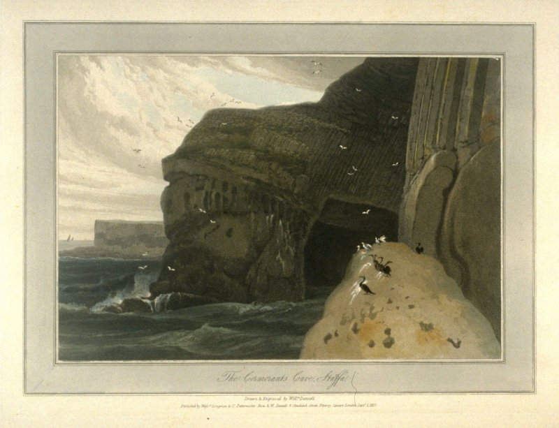 The Cormorants Cave Staffa, from Ayton's 'Voyage Round Great Britain' (London, 1814-1825) Vol.III