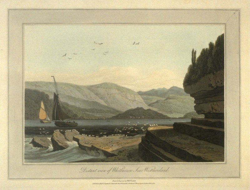 Distant view of Whitbarrow scar, Westmorland, from Ayton's 'Voyage Round Great Britain' (London, 1814-1825) Vol.II