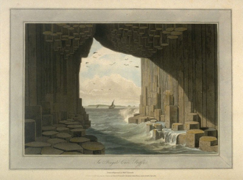 In Fingals Cave Staffa, from Ayton's 'Voyage Round Great Britain' (London, 1814-1825) Vol.III