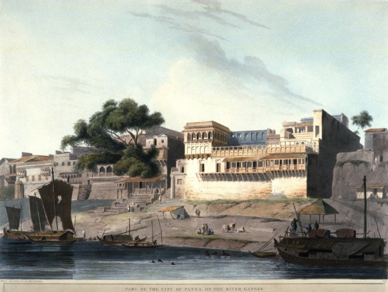 Plate 10: Part of the City of Patna, on the River Ganges, from the series 'Oriental Scenery'
