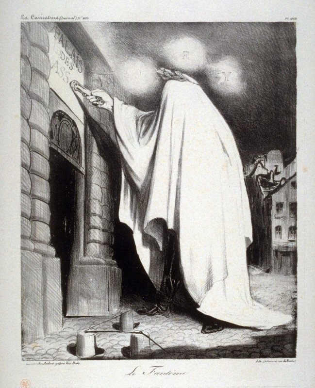 Le fantôme plate 488 published in La Caricature 7 May 1835