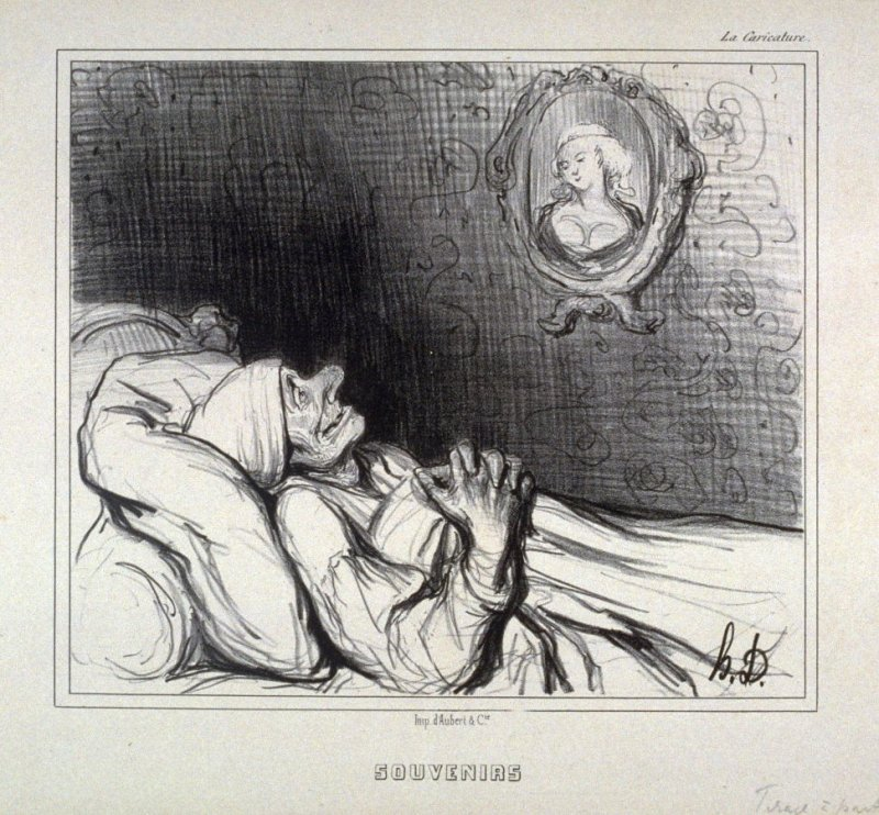 Souvenirs no. 23 of the series Types Parisiens published in La Caricature 10 May 1840