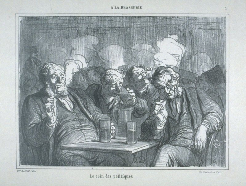 Le coin des politiques no. 1 from the series À la Brasserie (In the bar)