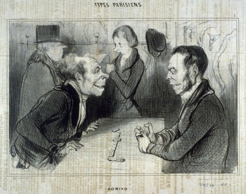 Domino!!... no. 5 from the series Types Parisiens published in Le Charivari 24 October 1841