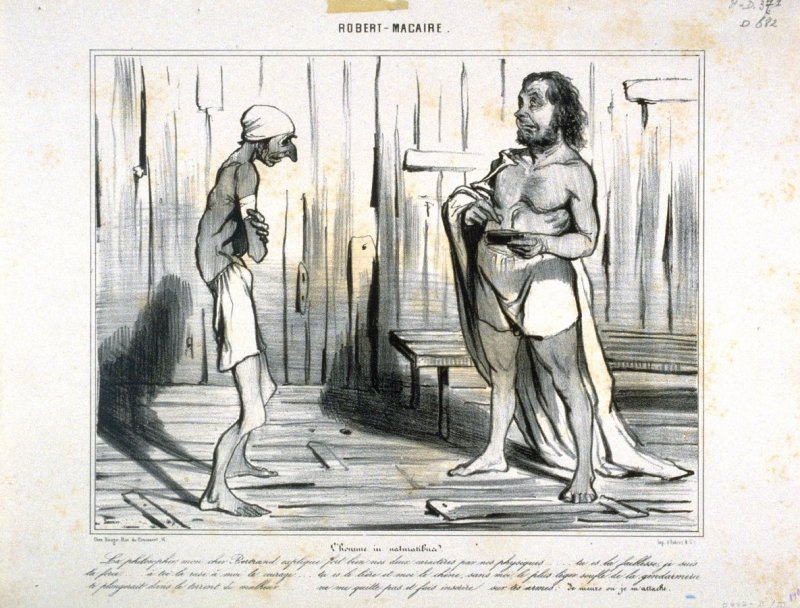 L'homme in naturalibus, no. 17 from the second series, ROBERT-MACAIRE