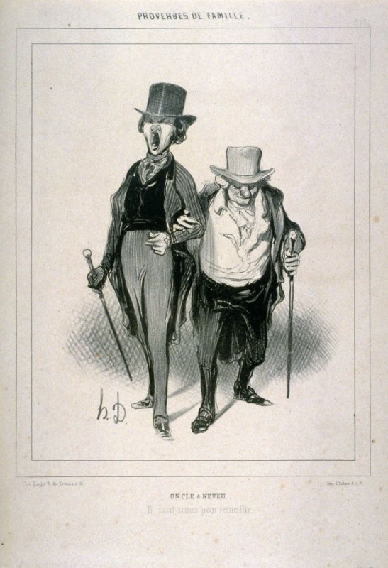 Oncle et Neveu no 1 of the series Proverbes de famille published in La Caricature, 31 May 1840