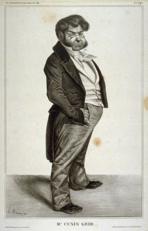 Mr. CUNIN GRID...., pl. 295 from La Caricature (Journal) No. 141, published 18 July 1833