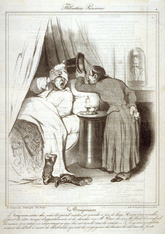 Le Bonjourien, no. 1 from the series Flibustiers Parisiens, published in Le Charivari 18 October 1835