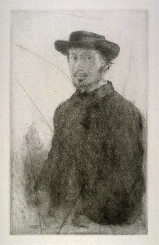 Self-Portrait (cancelled plate)