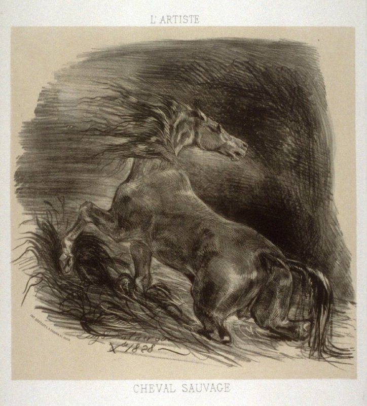 Cheval Sauvage, from L'Artiste
