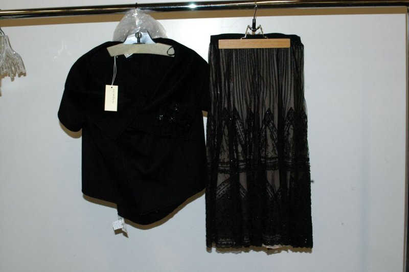 Evening ensemble (jacket, top, and skirt)