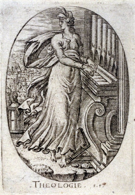 Theology. From Minerva, Wisdom and the Principal Sciences (set of 12 engravings)
