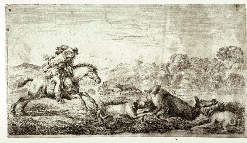 A Deer Hunt, from the series Chasses à différents animaux