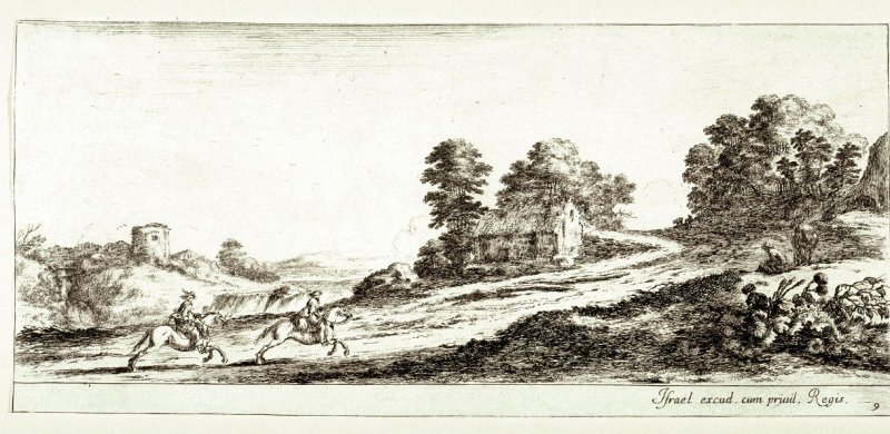 Two Horsemen Galloping Down a Road, from the series Divers Paysages