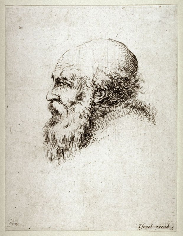 Profile of a Bearded Man, from the series Diverses testes et figures
