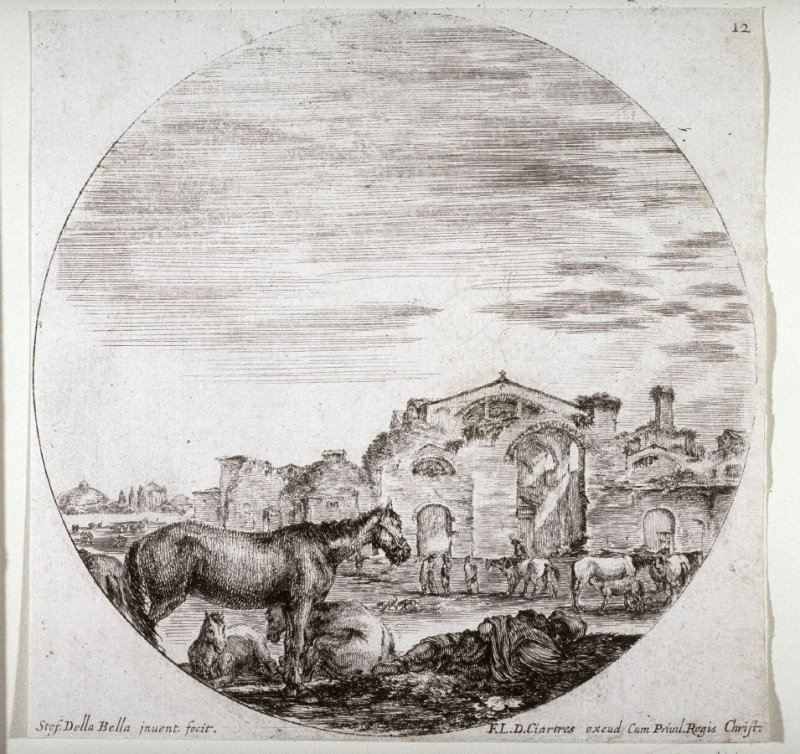 The Baths of Diocletian, from the series Landscapes and Ruins of Rome