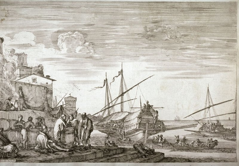 View Of Houses Facing The Port, from the series Views of the Port of Livorno