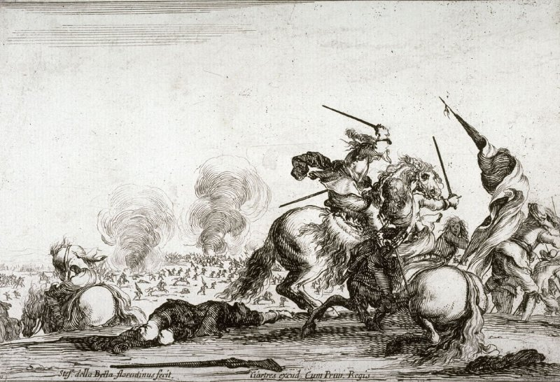 Une escarmouche (A skirmish) from the series Varie Figure
