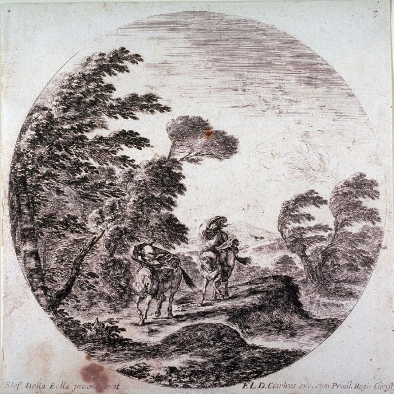 The Wind in the Forest, from the series Landscapes and Ruins of Rome