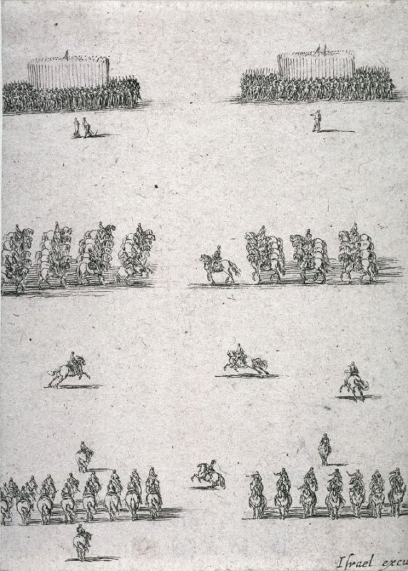Four Troops of Cavalry and Two of Infantry, from the series Recueil de diverses pièces très necessaires à la fortification