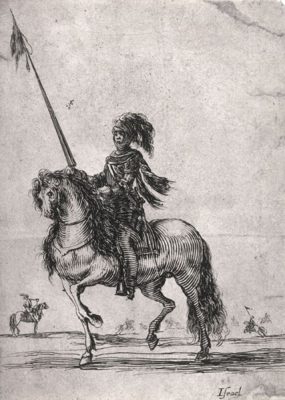 Soldier on Horseback with a Lance, from the series Divers exercices de cavalerie
