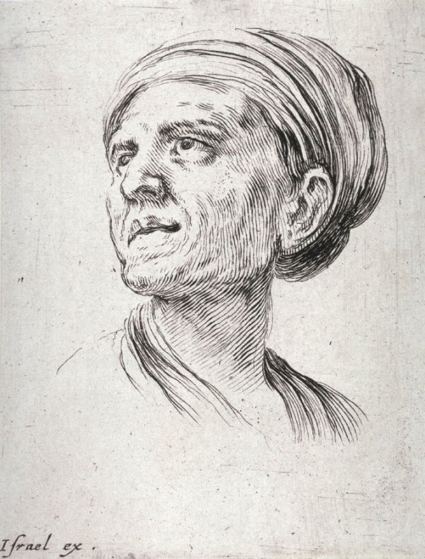 Head of a man in a Turban, from the series Diverses testes et figures