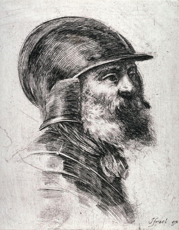 Head of a Man in Armor, from the series Diverses testes et figures