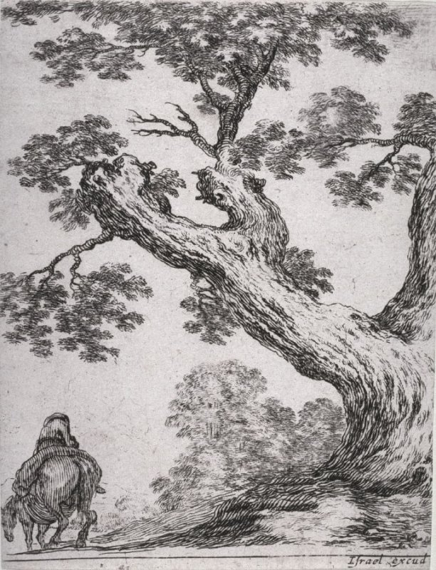 Landscape with a Tree and Rider, from the series Diverses figures et griffonnements