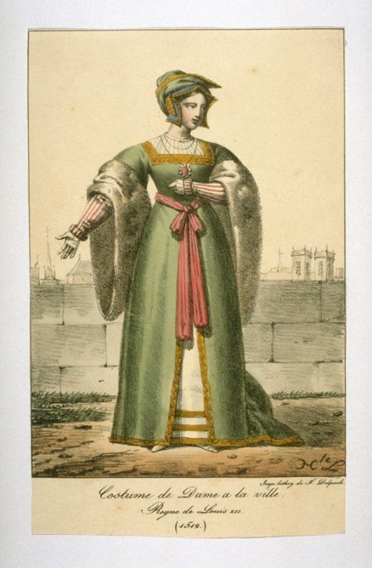 Costume of a woman of the city, 1512,Louis XII