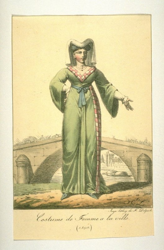 Costume of a woman of the city, 1390