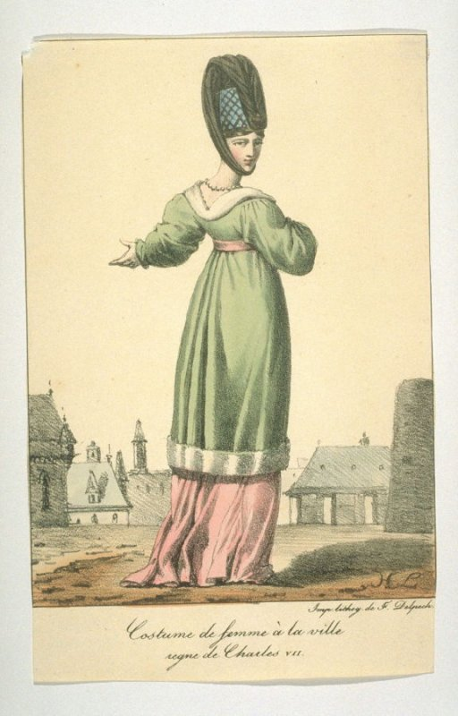 Costuame of a city woman, reign of Charles VII