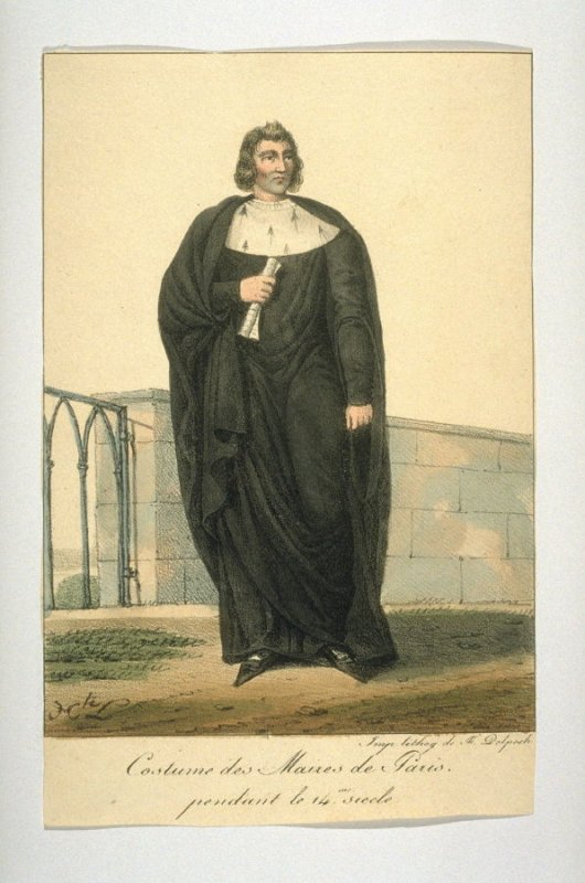 Costume of the mayors of Paris during the 14th century