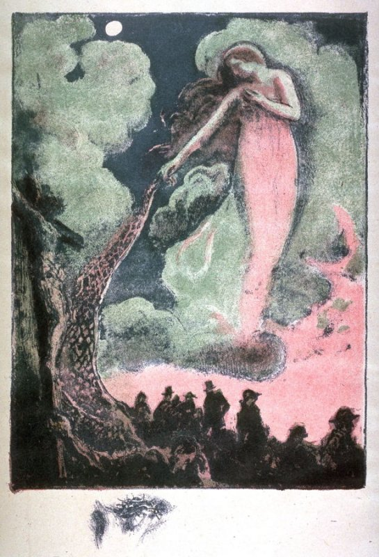 Female Figure on a Cloud from the book Poèmes by Francis Thompson