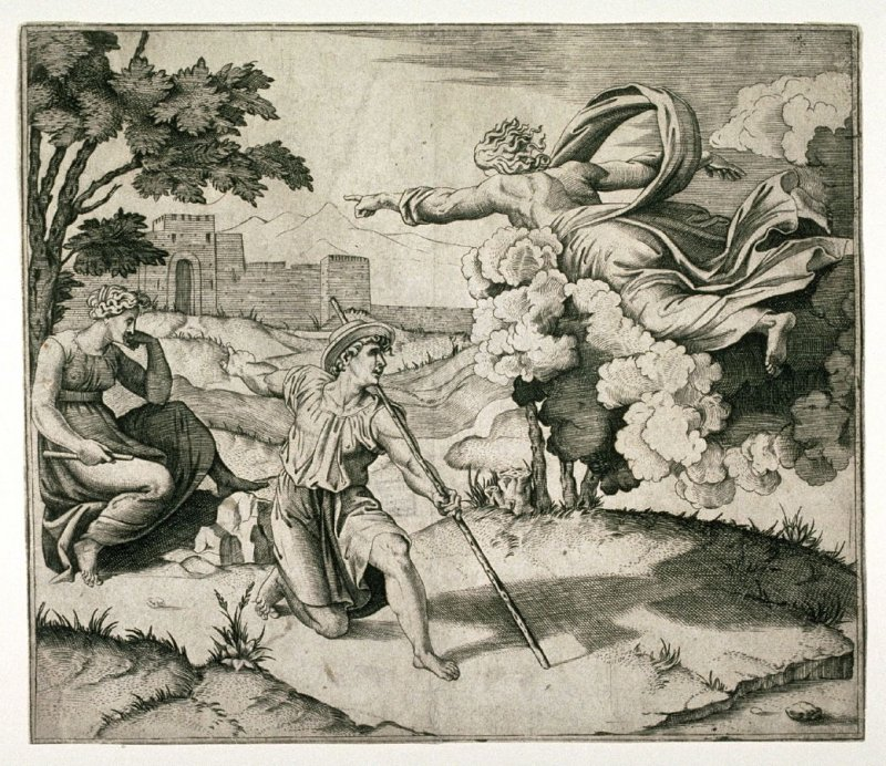 God Appearing to Isaac, after Raphael