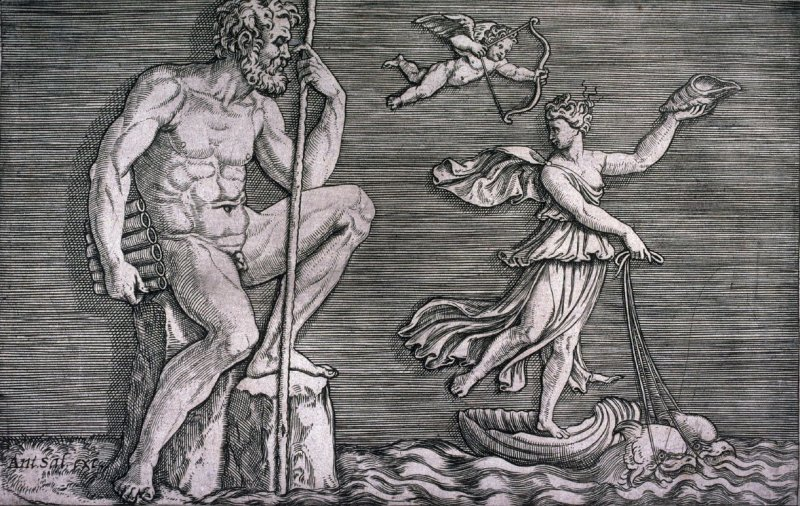 Galatea Escaping Polyphemus, from the series Ancient Bas-Reliefs
