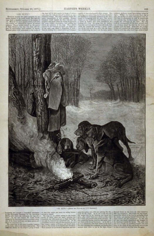 On Duty - from Harper's Weekly (October 20, 1877), p. 833
