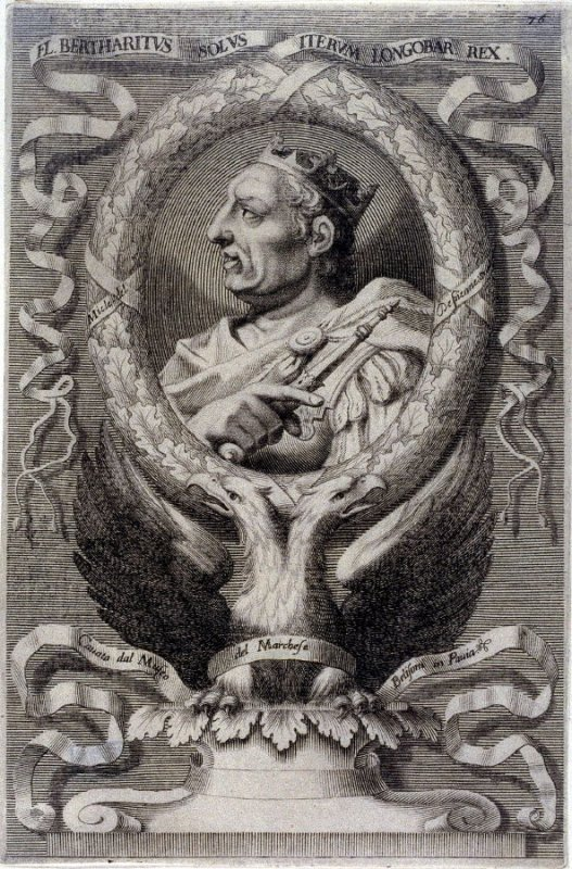 Fl. Bertharitus solus, King of Lombardi, from a series of Portraits of Rulers from the Museum of the Marchese Belisoni