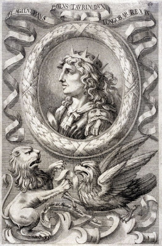 Agiluphus, paulus of Lombardy, from a series of Portraits of Rulers from the Museum of the Marchese Belisoni