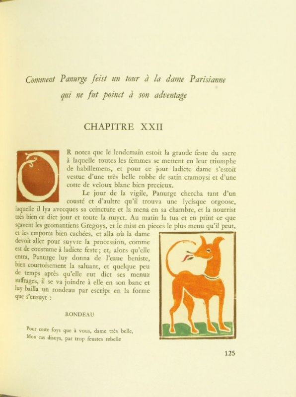 Untitled, Chapter XXII, pg. 125, in the book Pantagruel by François Rabelais (Paris: Albert Skira, 1943).