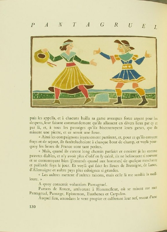 Untitled, pg. 130, in the book Pantagruel by François Rabelais (Paris: Albert Skira, 1943).
