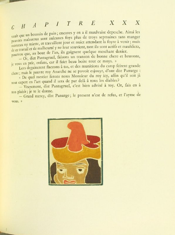 Untitled, pg. 171, in the book Pantagruel by François Rabelais (Paris: Albert Skira, 1943).