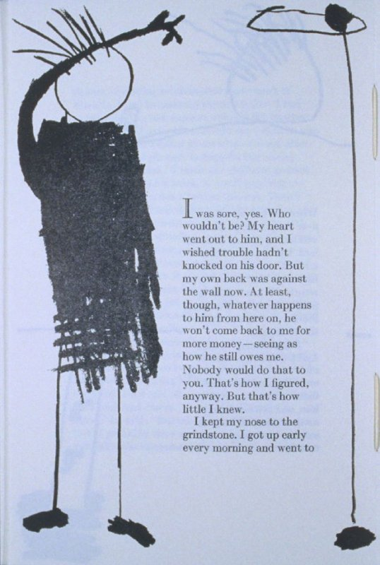 """""""I was sore, yes. . . ,"""" page in the book Elephant (Fairfax: Jungle Garden Press, 1988)"""