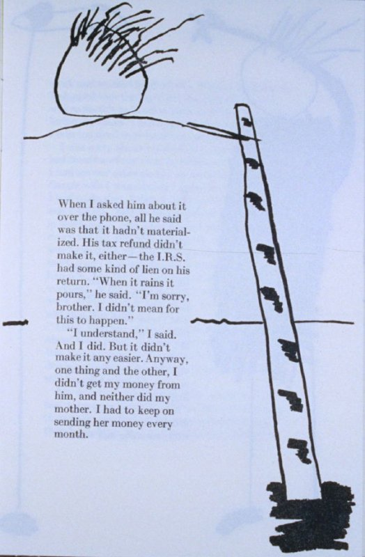 """""""When I asked him about it. . .,"""" page in the book Elephant (Fairfax: Jungle Garden Press, 1988)"""