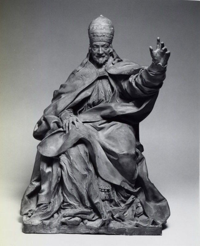 Model for bronze monument (Bozzetto) of Pope Alessandro VIII