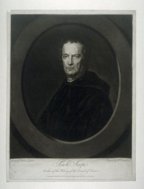 Portrait of Paolo Sarpie, author of the History of the Council of Trent