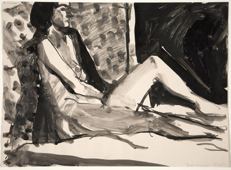 Untitled (Nude female on bed)