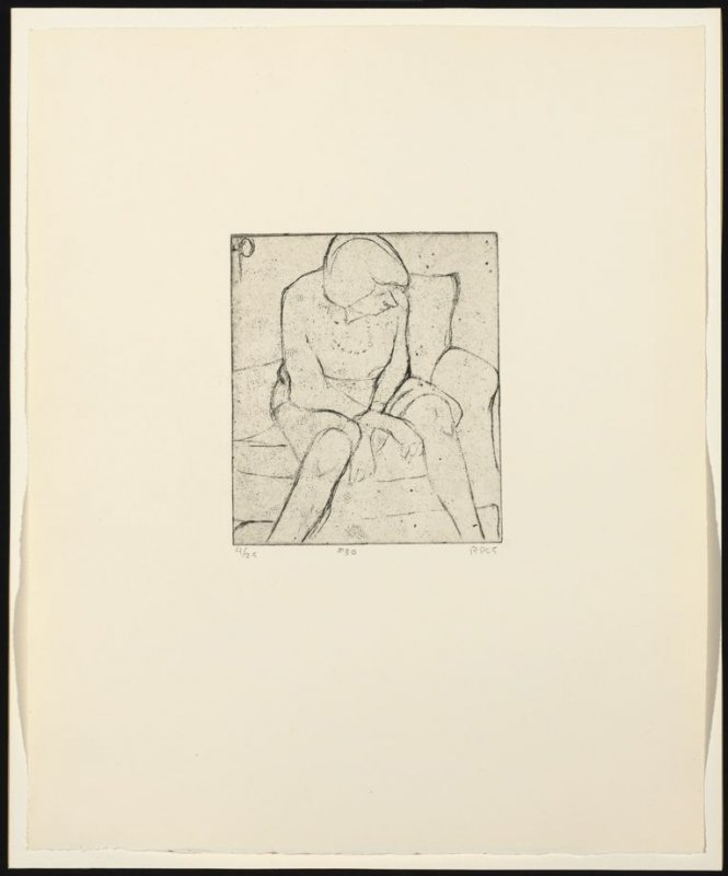 #30 (Phyllis seated on couch), from the portfolio 41 Etchings Drypoints