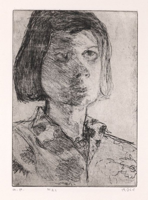 #21 (portrait of Phyllis), from the portfolio 41 Etchings Drypoints