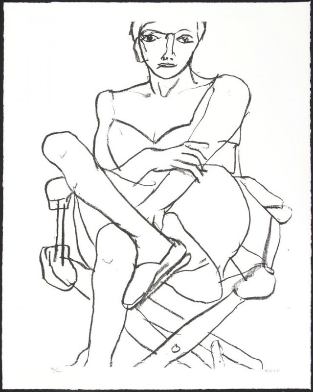 Untitled (Woman Seated in Director's Chair)